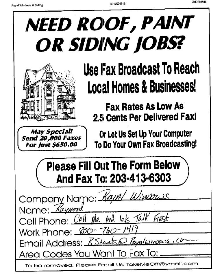 fax broadcast sales leads fax sample ads fax
