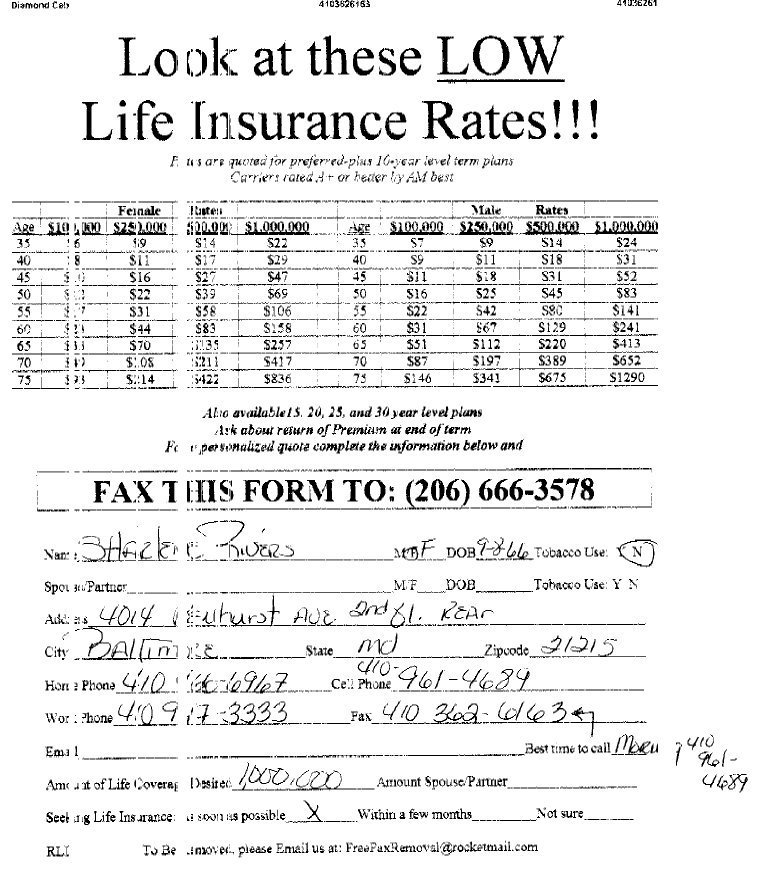 Get Life Insurance Leads By Fax Broadcast